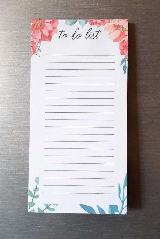 Купить блокнот магнитный с отрывными листами Flowers 60 листов 18 x 9 см