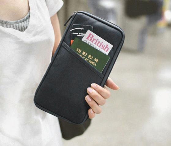 Купить многофункциональный холдер для путешествий черный 24 x 13 x 2 см