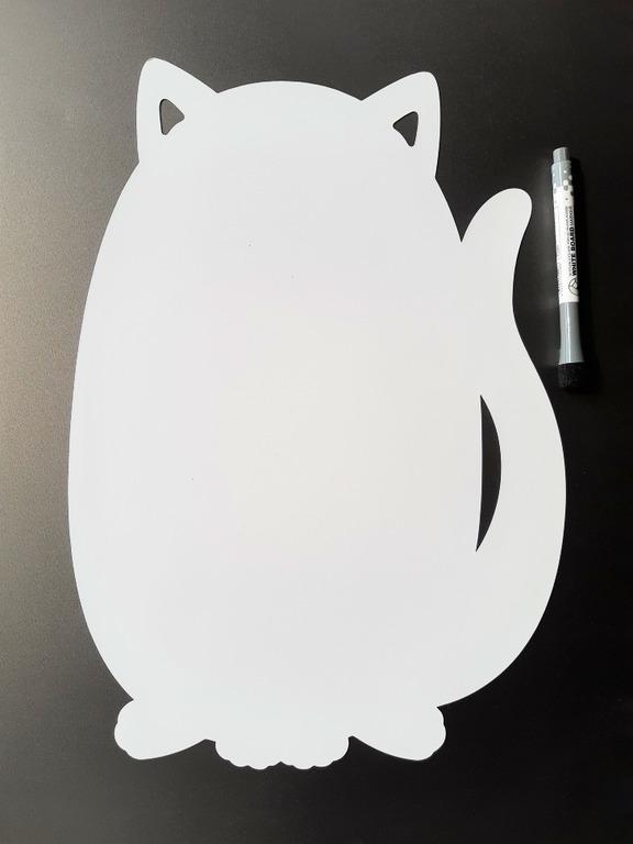 Купить магнитную маркерную доску для рисования Cat белый 40 х 30 см