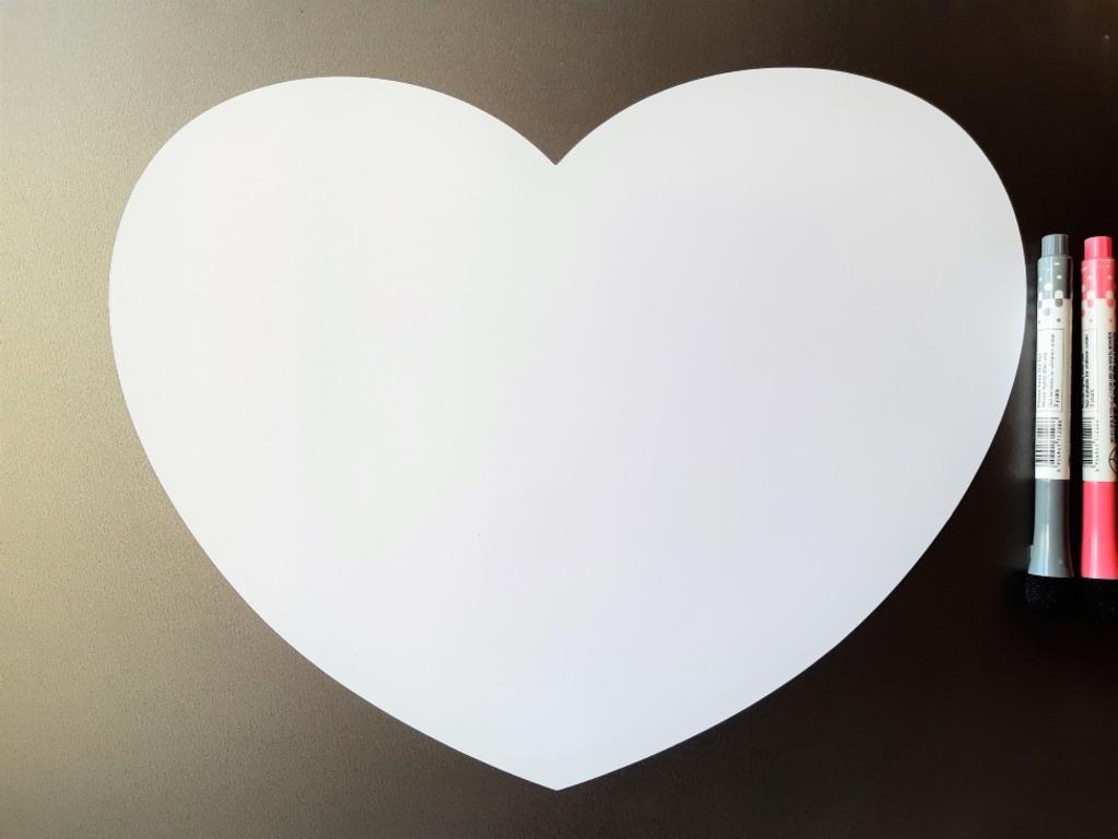 Купить магнитную маркерную доску для рисования Heart белый 40 х 30 см