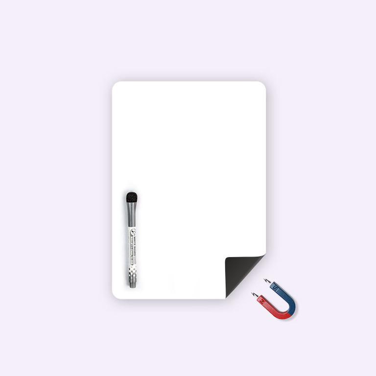 Магнитная маркерная доска для рисования средняя, белый, 30 х 20 см