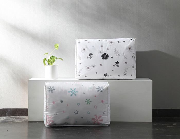 Купить чехол для постельного белья Snowflake белый 60 x 40 x 25 см