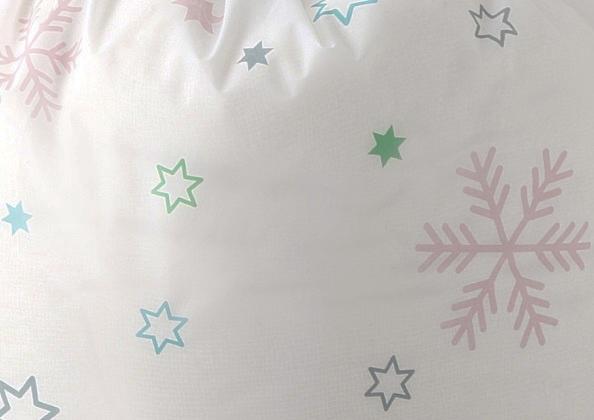 Купить чехол-цилиндр для постельного белья Snowflake белый 90 х 45 см