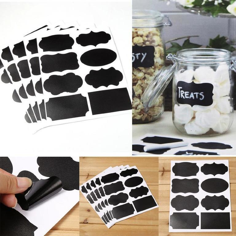 Купить наклейки для кухни грифельные Ассорти 8 шт 15 x 10 см