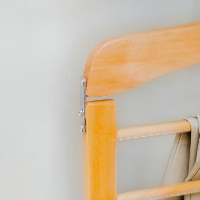 Набор вешалок для брюк деревянных, 4 перекладины, 3 шт, 39,1 x 1,5 x 33,2 см