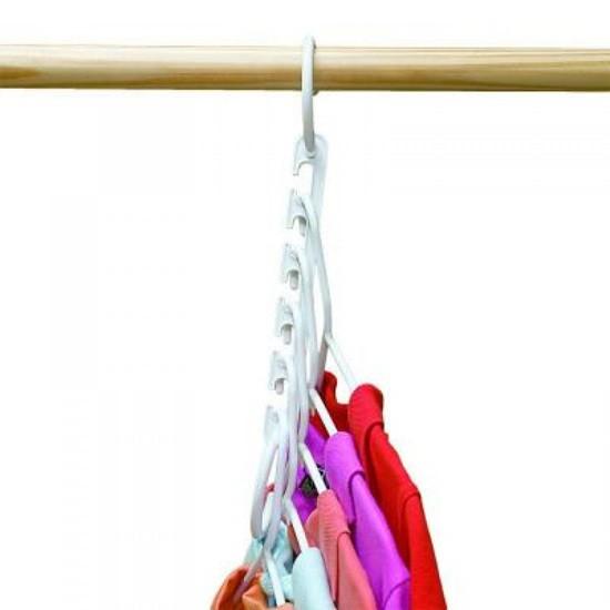 Купить набор вешалок-трансформеров 5 крючков 3 шт белый