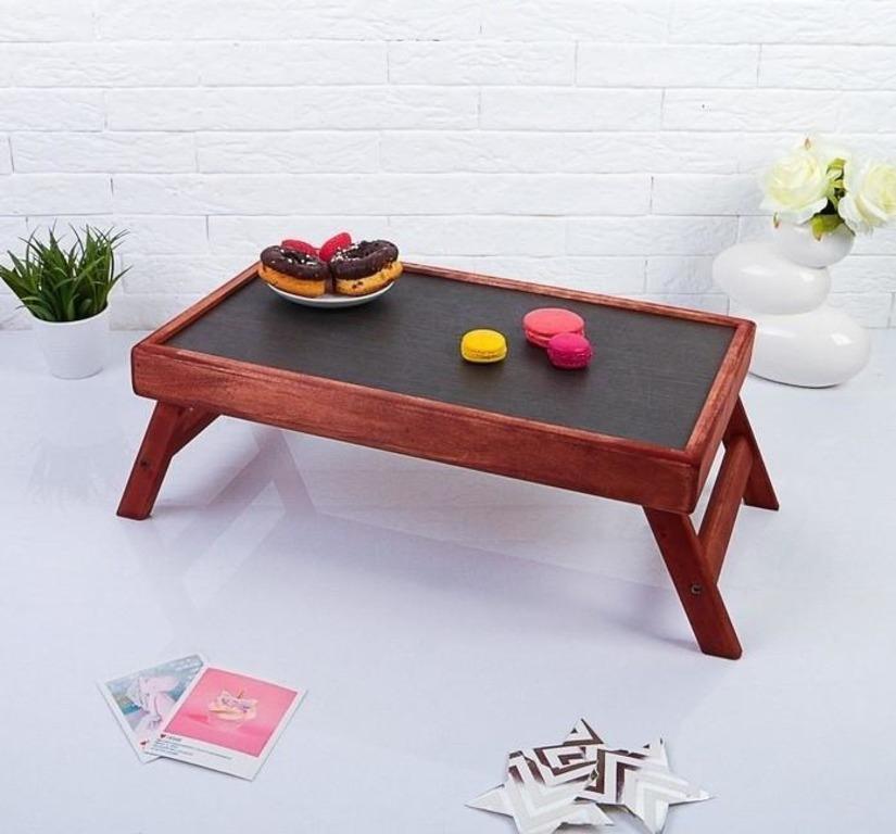 Купить столик для завтрака складной мореный Red 50 x 30 см
