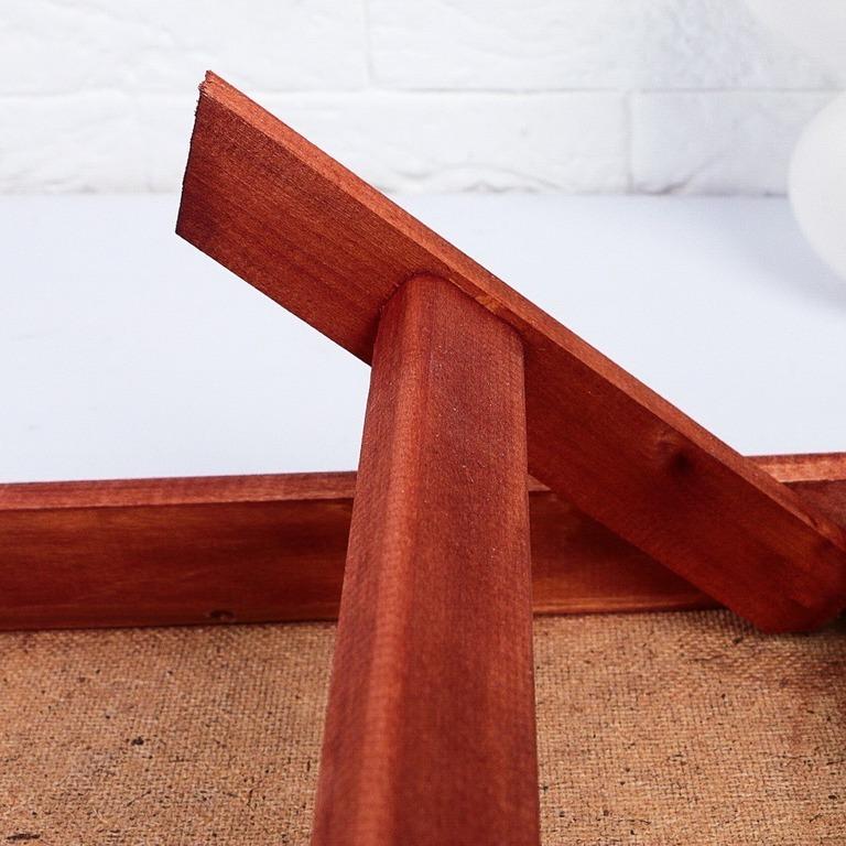 Столик для завтрака складной, мореный, «Red», 50 x 30 см