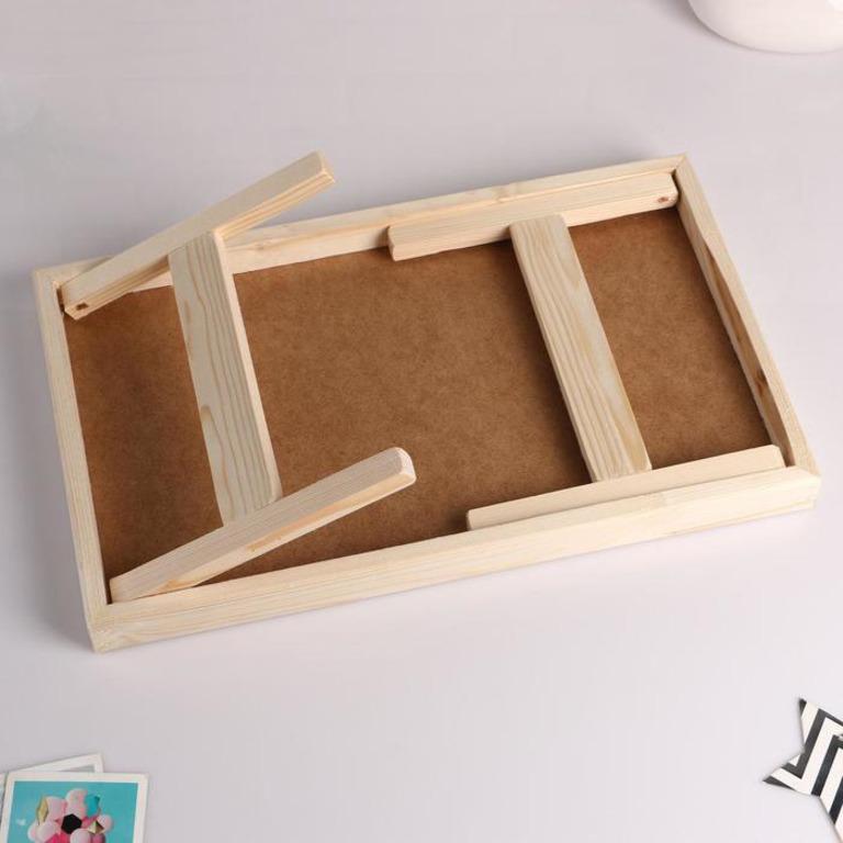 Столик для завтрака складной «Russo», белый, 50 x 30 см