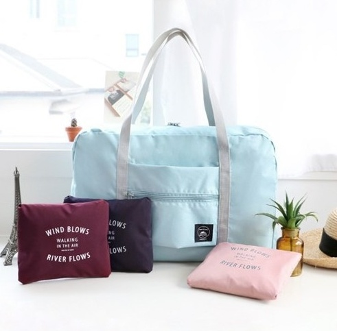 Складная сумка для путешествий, голубой, 48 х 16 x 32 см
