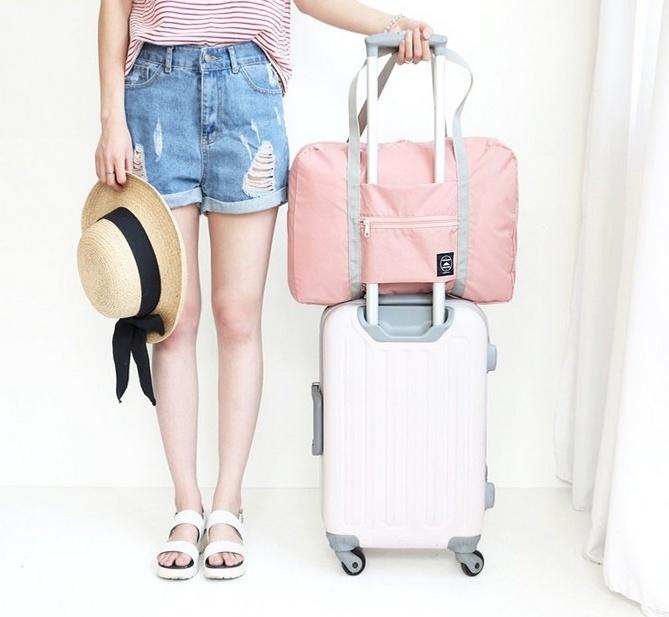 Купить складную сумку для путешествий розовый 48 х 16 x 32 см