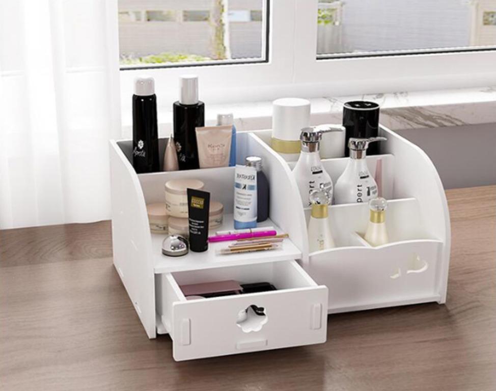 Купить комод-органайзер для косметики белый 28 x 19 x 14 см