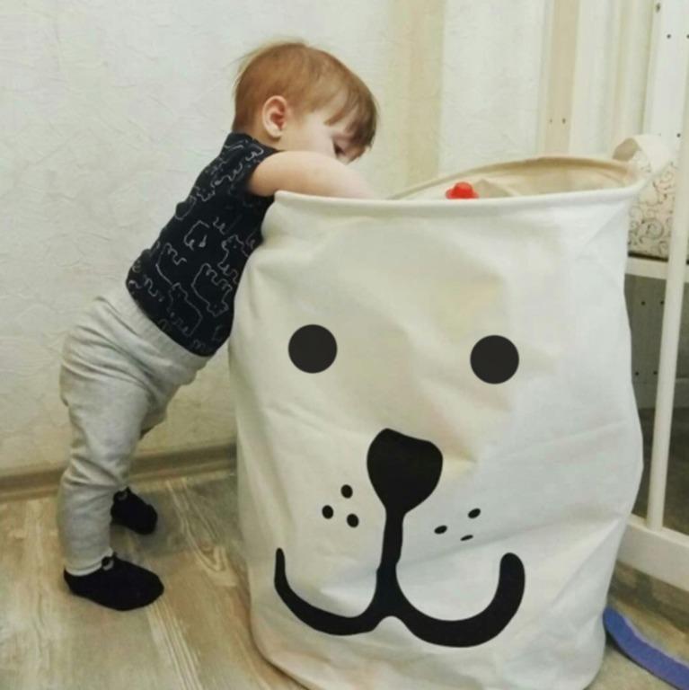 Купить корзину для белья White Bear белый 45 x 45 x 45 см