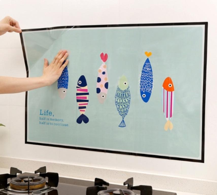 Купить наклейку жироотталкивающую для кухни Kitchen 90 x 60 см
