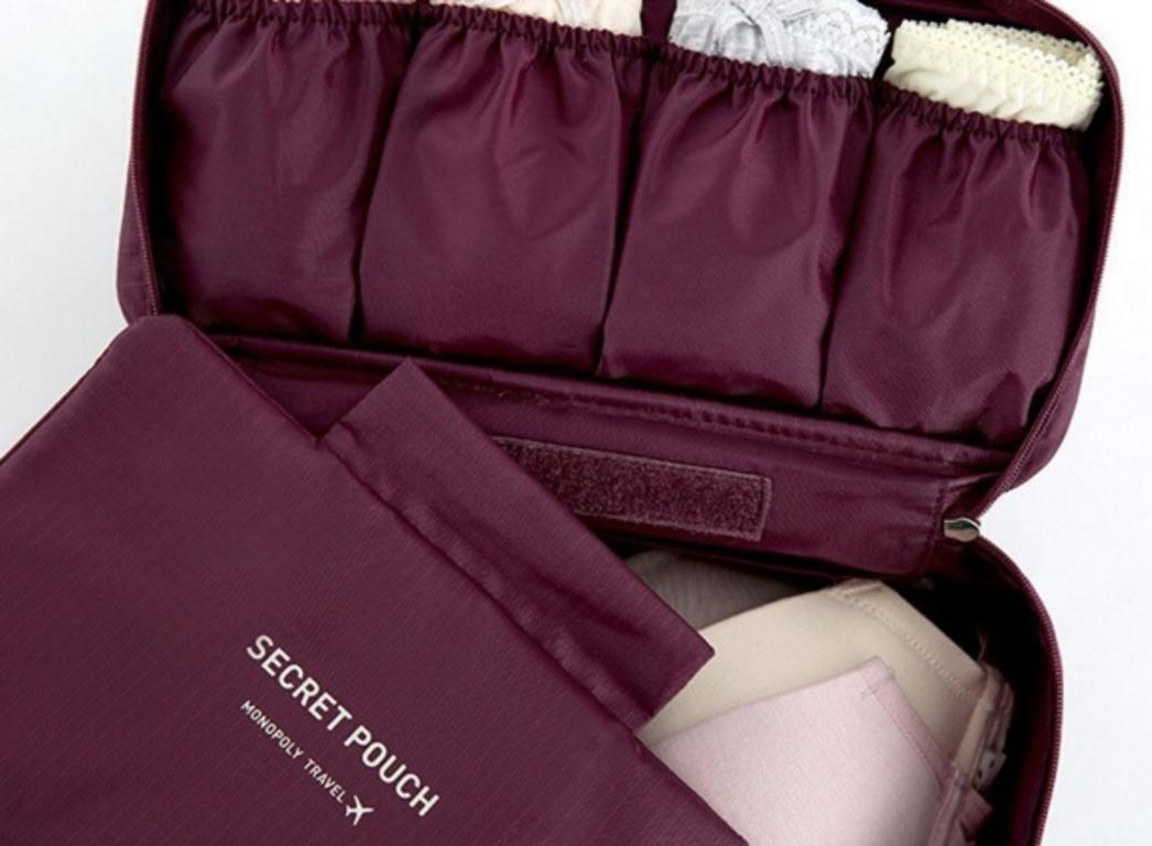 Купить органайзер для нижнего белья Wine бордовый 26 x 13 x 12 см