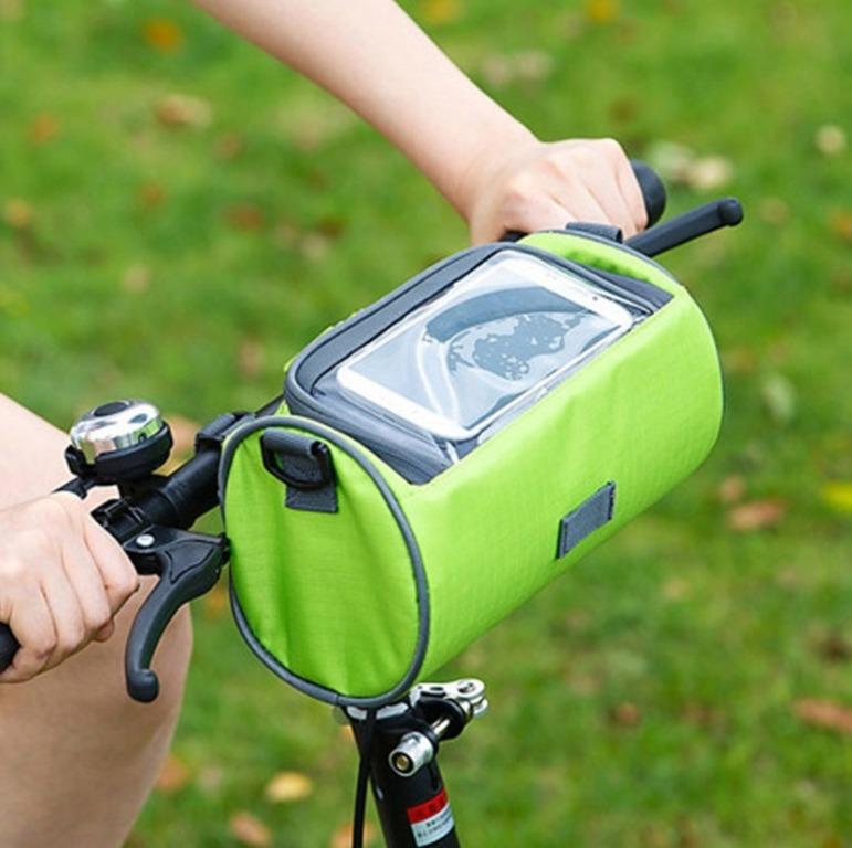 Купить органайзер-сумка на руль велосипеда зеленый 22 x 11 x 11 см