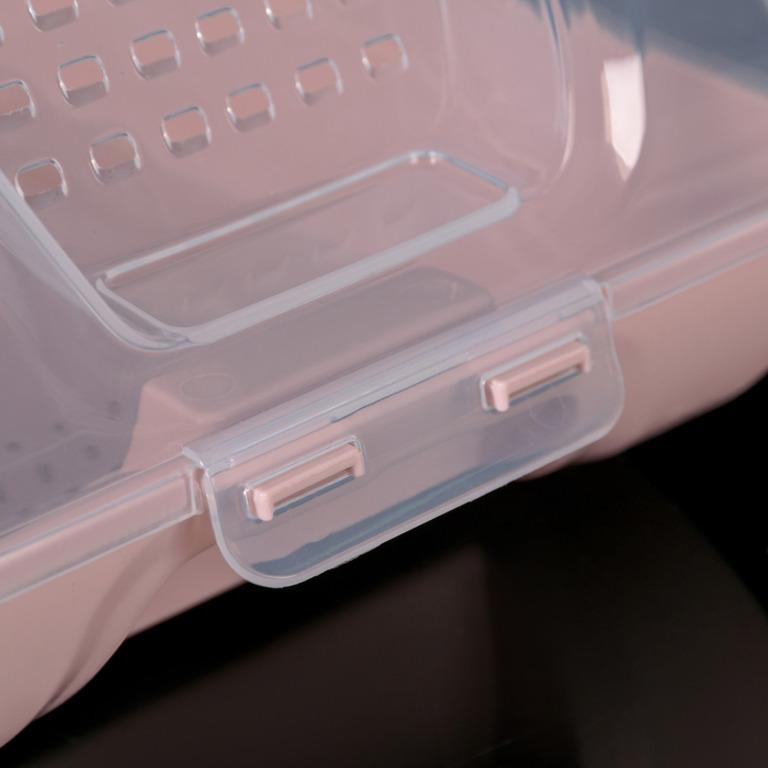 Купить коробку для хранения обуви Trace розовый 37 х 22 х 14 см