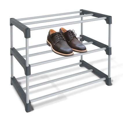 Купить полку для обуви серый 59,5 x 31 x 48,5 см