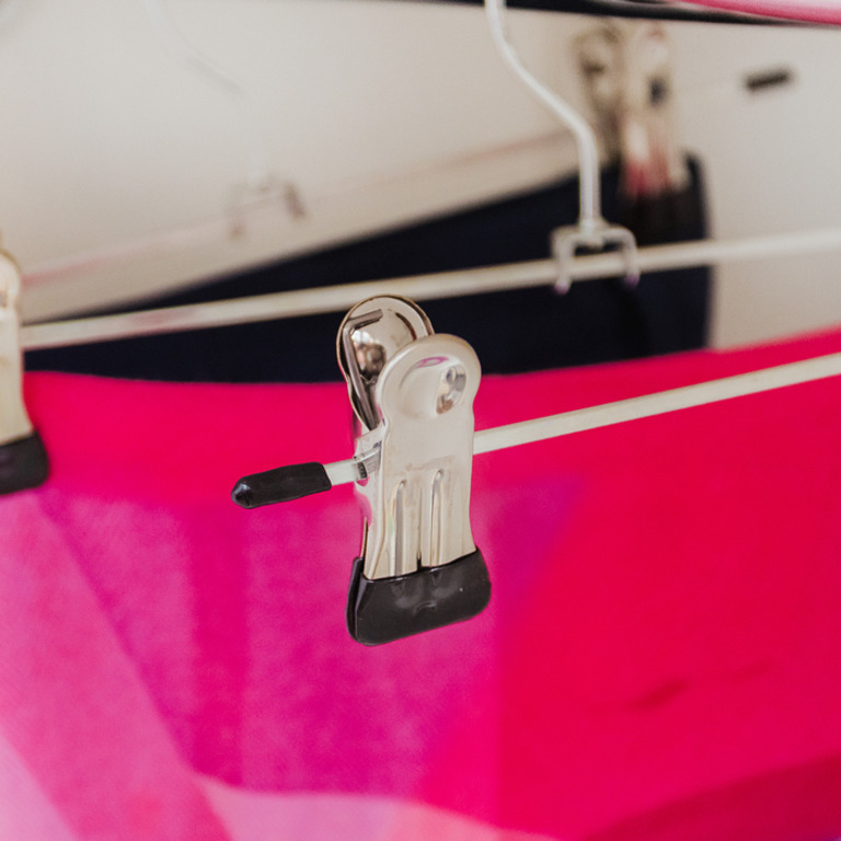 Купить набор вешалок для брюк и юбок с зажимами серебро 5 шт 30 x 1 x 10 см