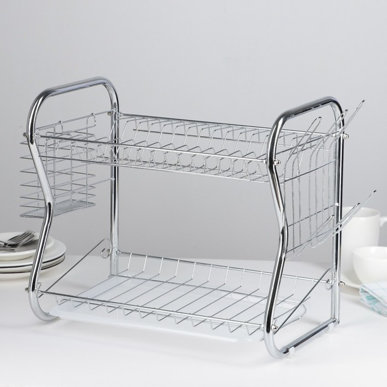 Купить сушилку для посуды Optima В-образную 40 x 23,5 x 34 см