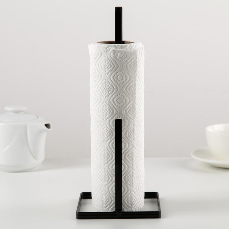 Купить подставку под бумажные полотенца Loft черный 11 x 11 x 27 см