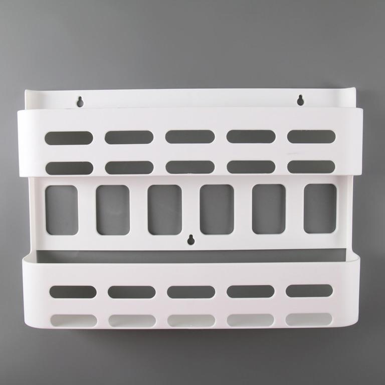 Купить органайзер навесной для специй белый 37,5 x 7 x 26,5 см