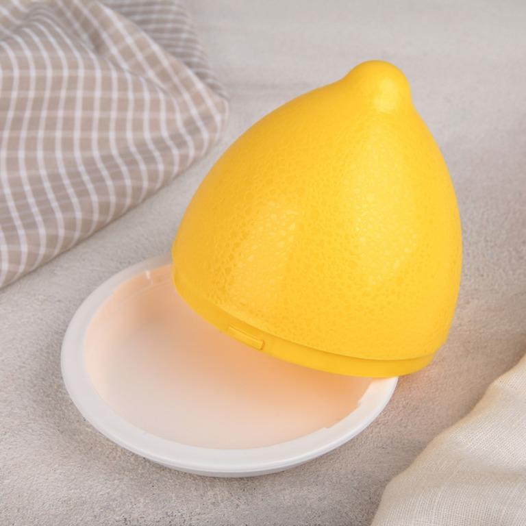 Купить контейнер для лимона желтый 9,5 x 9,5 x 9 см