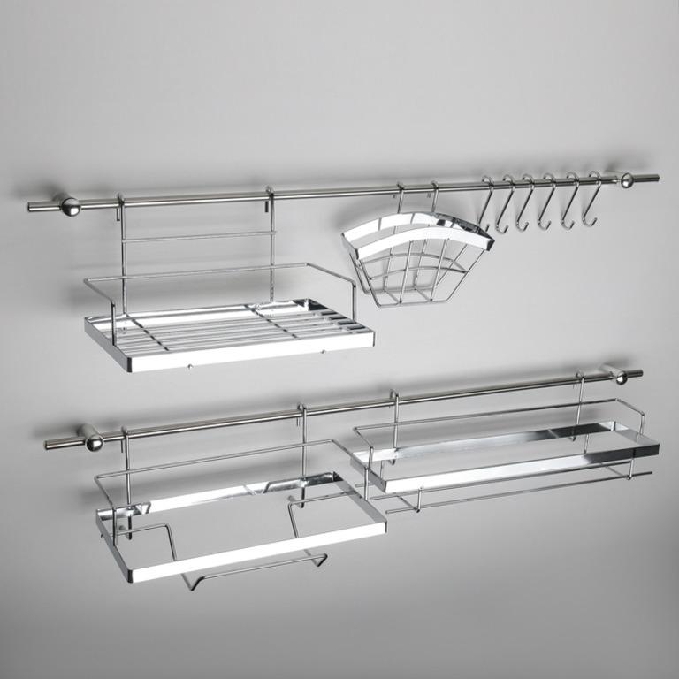 Купить рейлинговую систему для кухни 16 предметов