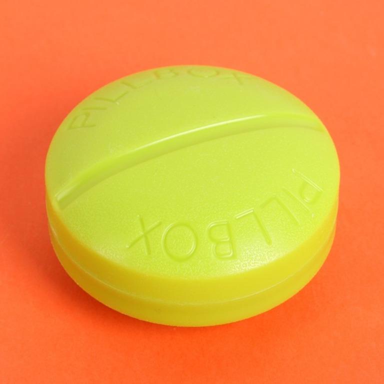 Купить органайзер для таблеток круглый на 4 приема 6,5 x 3 см