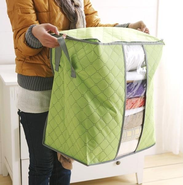 Купить чехол для постельного белья и подушек зеленый 44 х 30 х 48 см