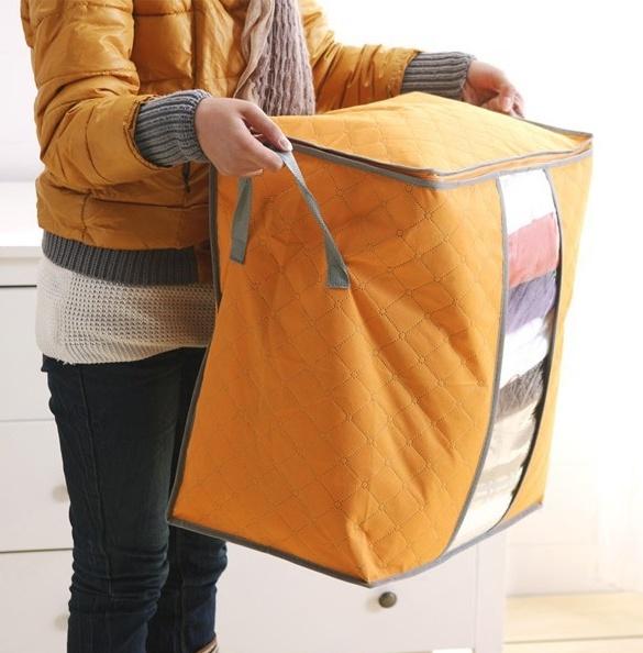 Купить чехол для постельного белья и подушек оранжевый 44 х 30 х 48 см