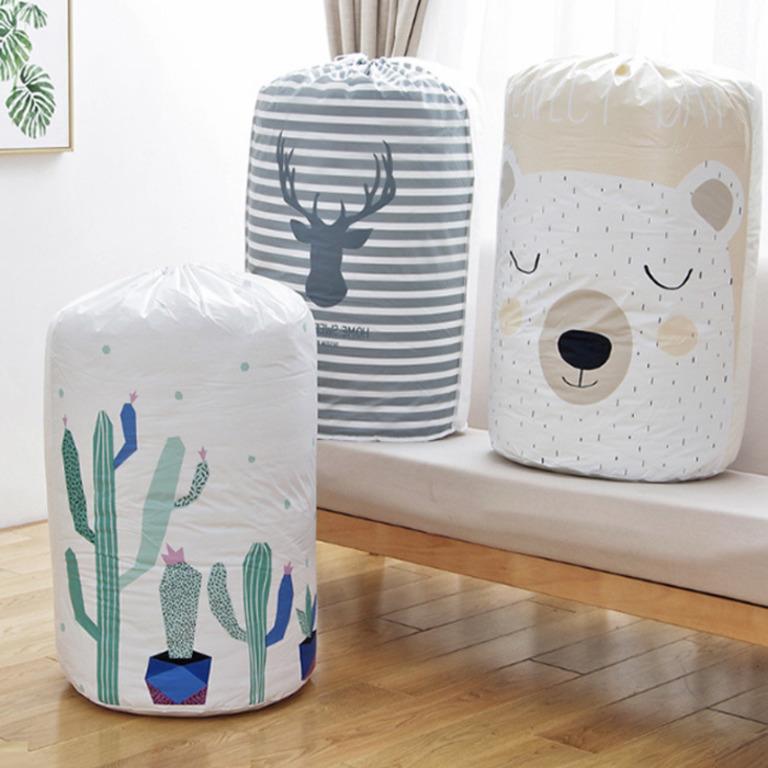 Купить мешок для хранения одежды Bear белый 43 x 43 x 82 см