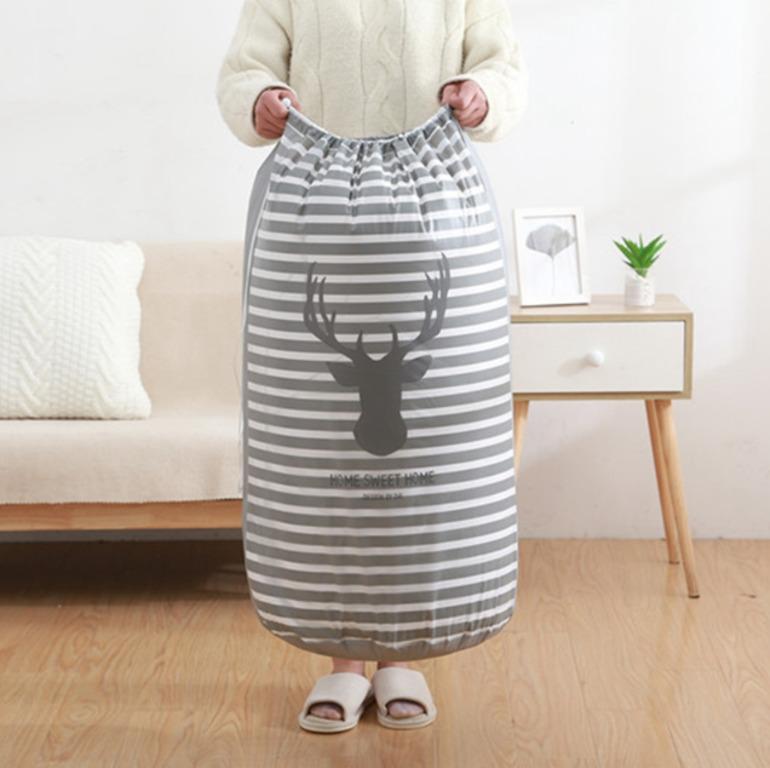 Купить мешок для хранения одежды Deer серый 43 x 43 x 82 см