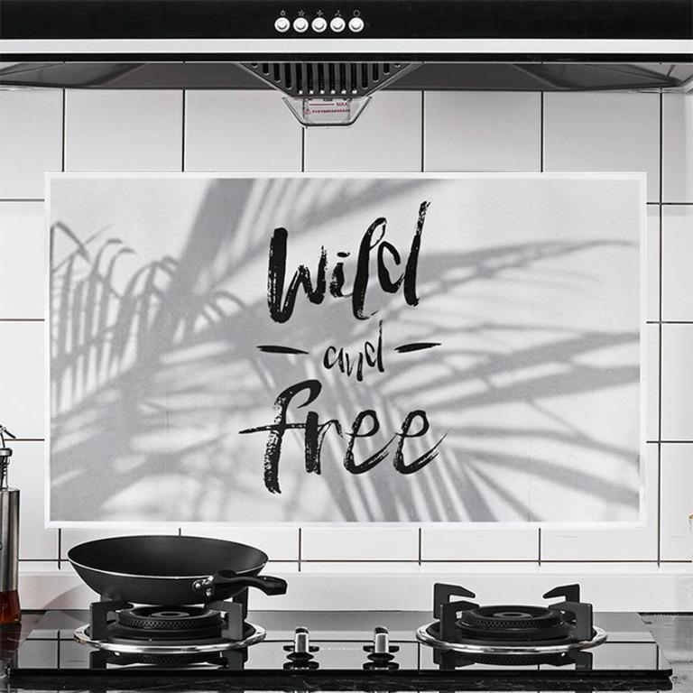 Купить наклейку жироотталкивающую для кухни Wild and Free белый 75 x 45 см