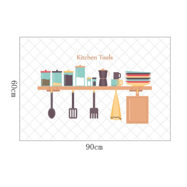 Купить наклейку жироотталкивающую для кухни Kitchen Tools белый 90 x 60 см
