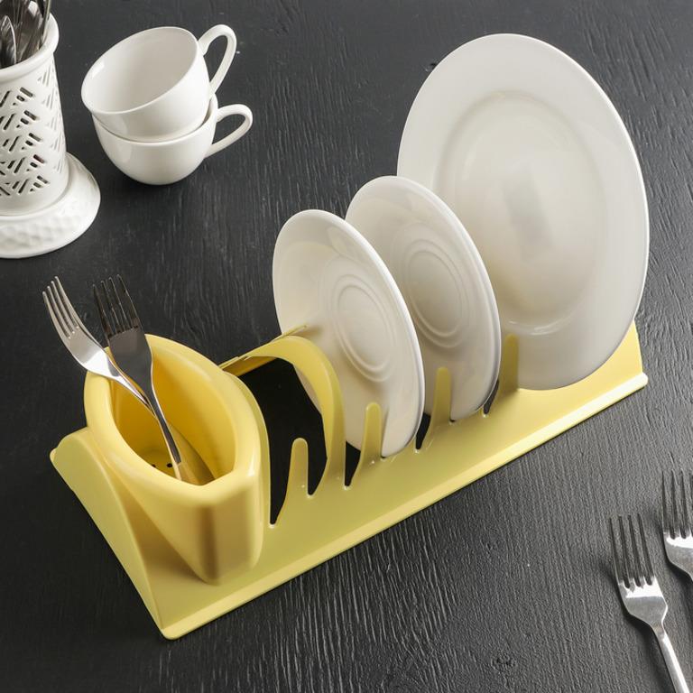 Купить сушилку для посуды Katrin желтый 34 x 14 x 8 см