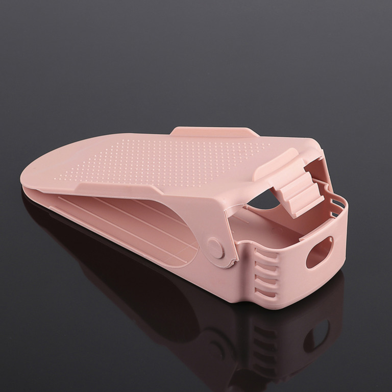 Купить подставку для обуви на одну пару модель 1 розовый 25 х 9 х 10-18 см