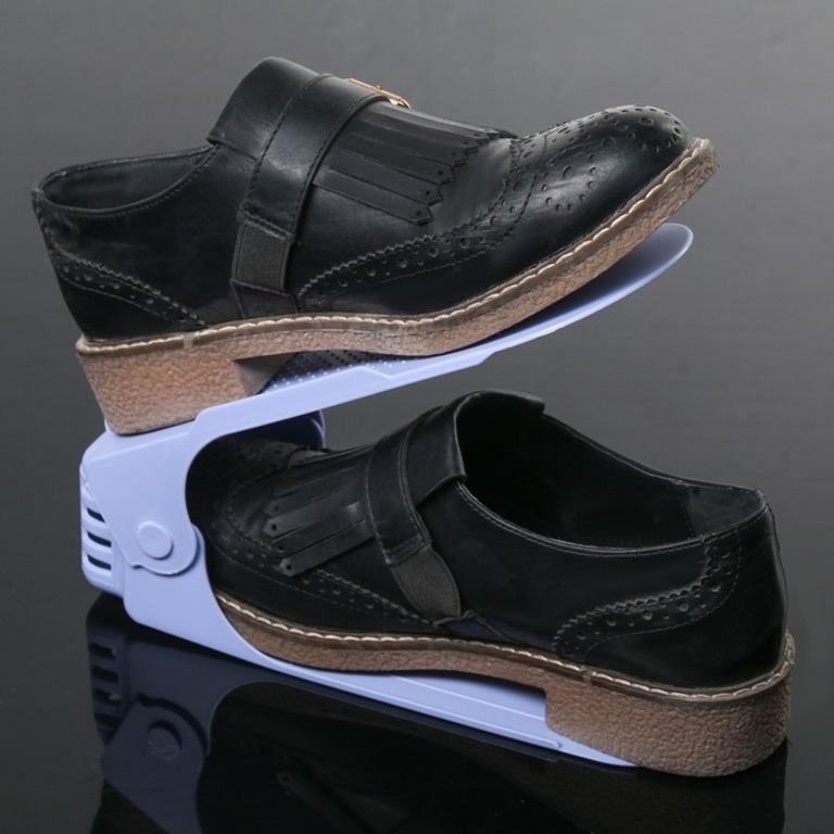 Купить подставку для обуви на одну пару модель 1 сиреневый 25 х 9 х 10-18 см