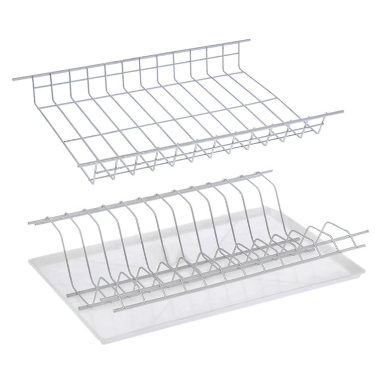 Купить комплект посудосушителей для шкафа с поддоном хром 36,5 x 25,6 x 9 см