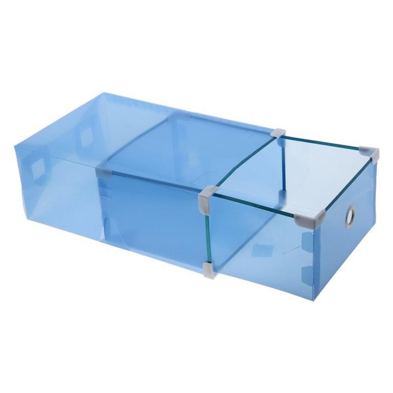 Купить коробку для хранения выдвижную Melani синий 34 x 22 х 13 см