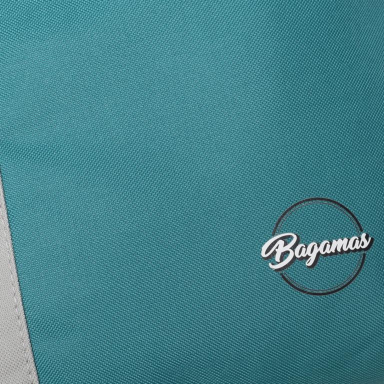 Купить сумку летнюю без молнии серый бирюзовый 25 x 7 x 35 см