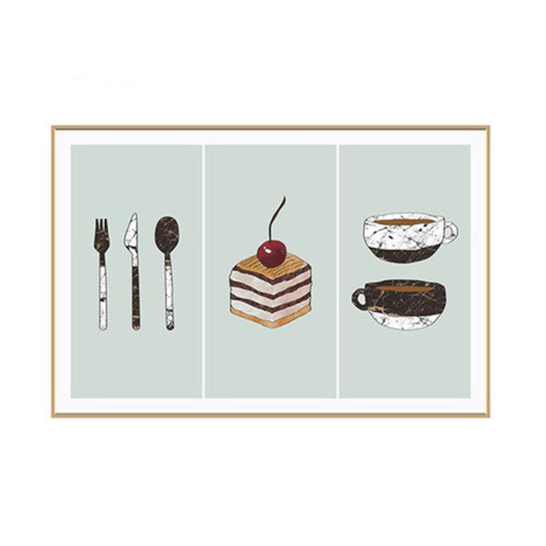 Купить наклейку жироотталкивающую для кухни Пирожное 90 x 60 см