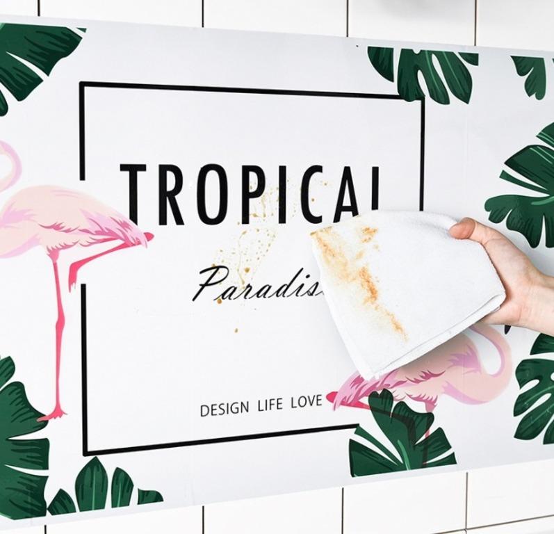 Купить наклейку жироотталкивающую для кухни Фламинго 75 x 45 см
