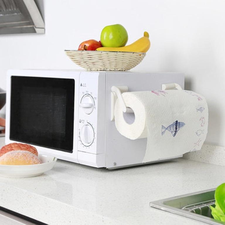 Купить магнитный держатель бумажных полотенец белый 9 x 4,5 см