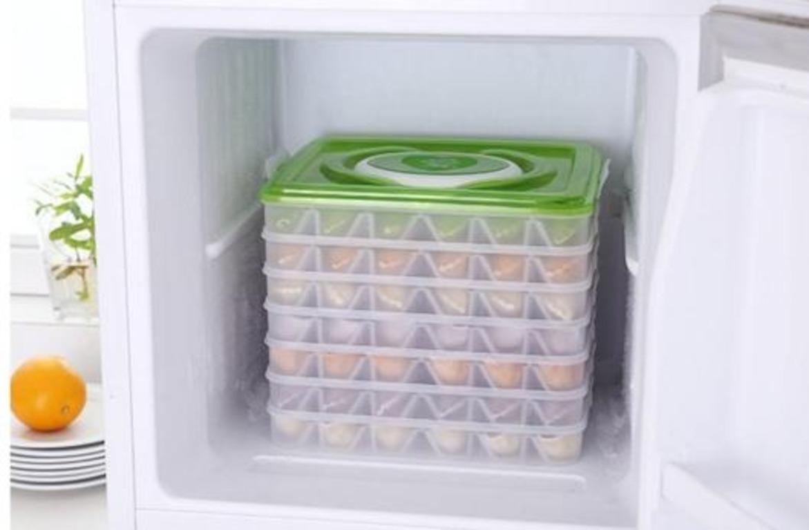 Купить контейнер для хранения пельменей 4 яруса 30 х 28 х 14 см