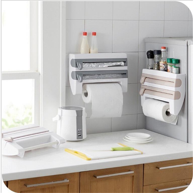 Купить полку-кухонный держатель 4 в 1 белый 39 x 10 x 24 см