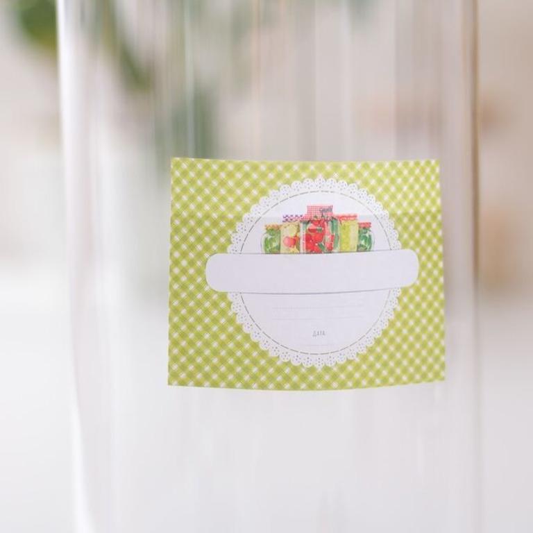 Купить этикетку для домашних заготовок Соленья 8 x 6 cм