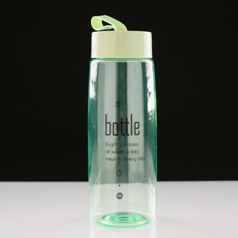 Купить бутылку для воды с силиконовой петлей 0,45 л 6,5 х 6,5 х 24 см