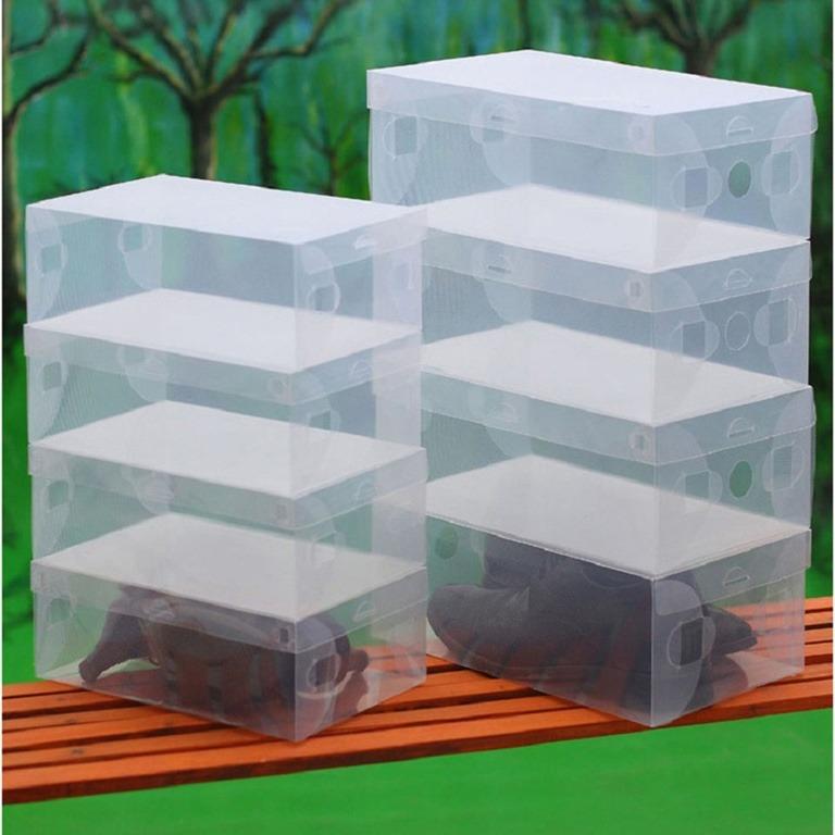 Купить набор из пластиковых коробок для обуви 5 шт