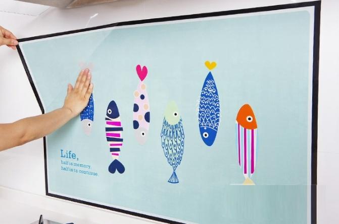 Купить наклейку жироотталкивающая для кухни Fish 90 x 60 см